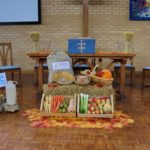 Church decorated for Harvest