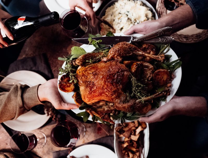 Church family Christmas meal